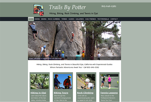 Trails by Potter website image