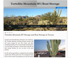 Tortolita Mountain RV Storage